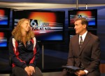 "Zawadzki had her first live, in-studio TV interview on ""First News Live at 4"" with host John Knicely"