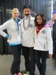 AAC members Lindsey Weber, Jason Wong and Amanda Evora having some fun