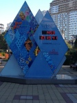 The countdown is on in downtown Sochi!