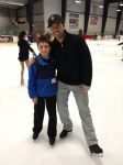 Michael and an young skater