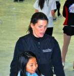 Nancy and a skater