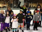 Nicole having fun with the beginner skaters