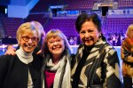B.L. Wylie, Tamie Campbell and Carolyn Kruse prepare to take their seats for the show.
