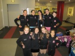 Members of the All Year Figure Skating Club get ready to compete at National Showcase in Hyannis, Mass. (Top row, l-r) Chloe Gradilla, Melissa Rosales, Cassie Guerra, Crystalrose Guerra (coach) and Alexa Lewis; bottom row, l-r) Alexandra Silverman, Hayden Paige, Grace Koplin and Elitsa Mincheva.