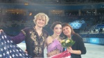 Meryl Davis and Charlie White with coach Marina Zoueva.