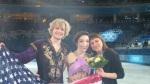 Meryl Davis and Charlie White with coach Marina Zoueva.
