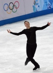 Jeremy Abbott performs during his free skate. (Credit Getty Images)