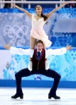 Madison Chock and Evan Bates perform their free dance.