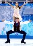 Madison Chock and Evan Bates perform their free dance.