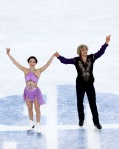 Meryl Davis and Charlie White after their performance.