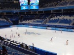 The sweepers get a feel for Olympic ice.