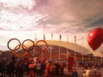Valentine's Day being celebrated on the Olympic Park.
