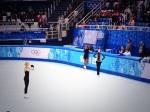 All three members of Team USA ladies at practice.