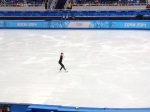 2010 Olympic champ Yuna Kim at practice.