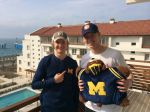 Charlie White and Evan Bates show their UM pride.