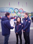 Madison Chock and Evan Bates are interviewed by NBC-LA