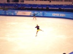 Polina Edmunds warms up.