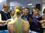 Polina Edmunds takes on the Mixed Zone.